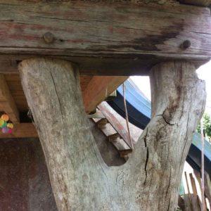 Besondere Balken wieder eingebaut in einen neu erstellten Balkon I Fa Blöcher 2016